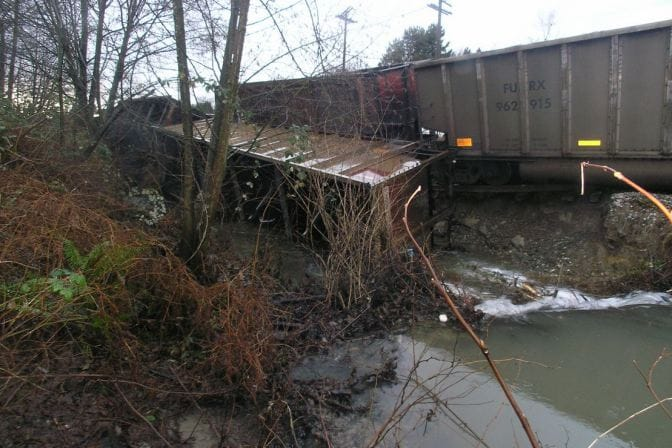 Derailed Coal Car in Burnaby