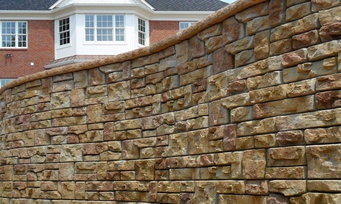 ledgestone retaining wall