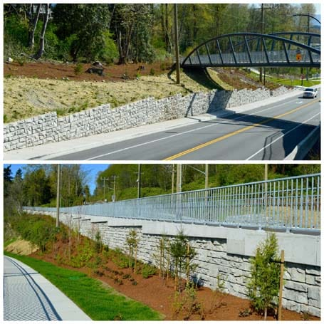 Redi Rock Retaining Wall Projects - Eagle West Cranes