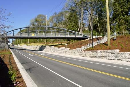 Bridge Over the Road -Eagle West Cranes